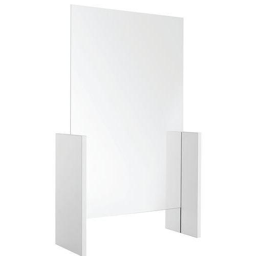 Divisória de proteção modulável em vidro temperado