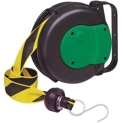 Enrolador de fita de sinalização preta/amarela – Câble Équipements