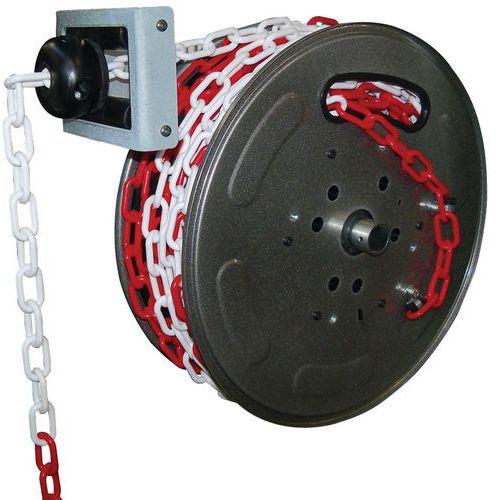 Enrolador de corrente de sinalização vermelha/branca – 20m – Câble Équipements