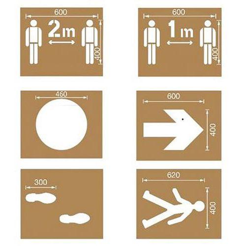 Especial COVID – Kit de estênceis de distanciamento social – Ampère