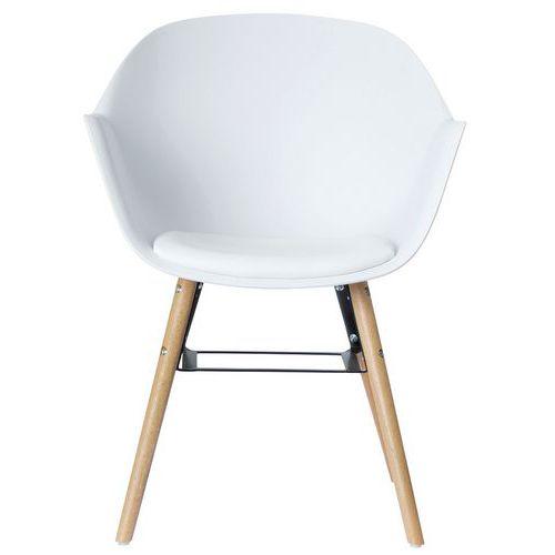 Cadeiras Wiseman com pés em faia e assento preto