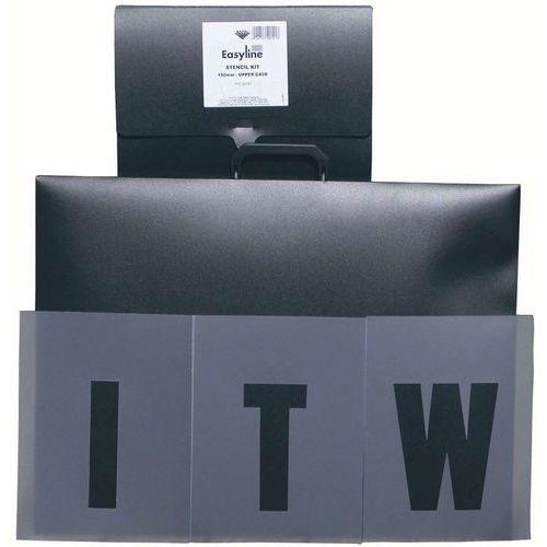 Kit de estênceis para distanciamento – Letras, números e setas – ITW