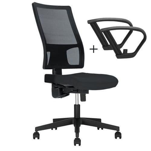 Cadeira de escritório Taktik II Mesh – com apoios para os braços