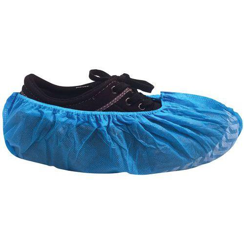 Capas para calçado descartáveis azuis, antiderrapantes – Conjunto de 100