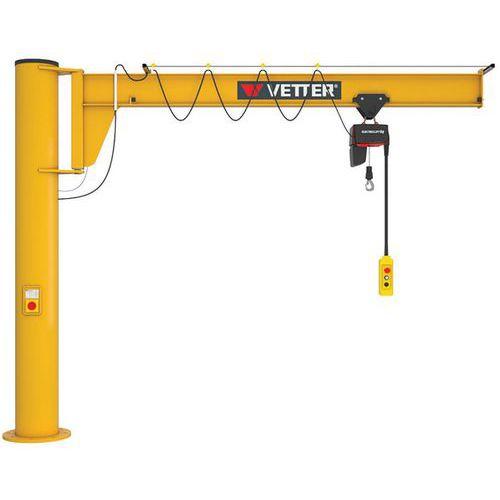 Grua giratória sobrelevada com kit de fixação – capacidade de 250 a 2000kg – Vetter