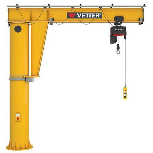 Grua giratória de 360° com kit de fixação – capacidade de 250 a 2000kg – Vetter