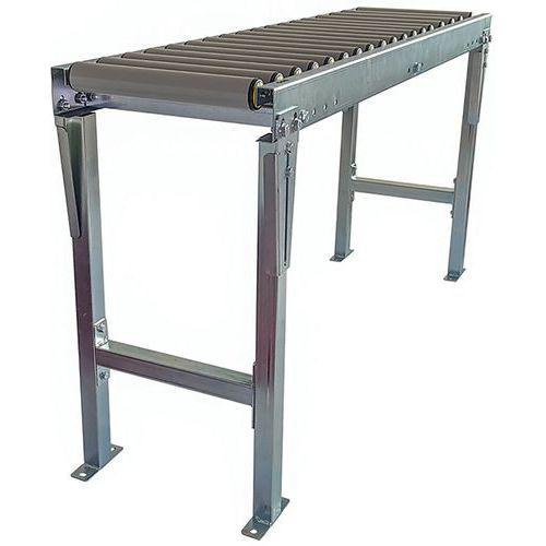 Kit de transportador gravítico com rolos em PVC e bipés – Somefi