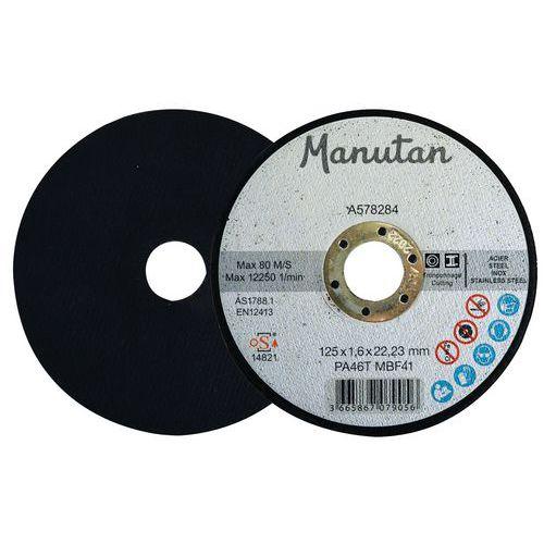 Disco de corte plano para aço/inox – Ø 125mm – Manutan