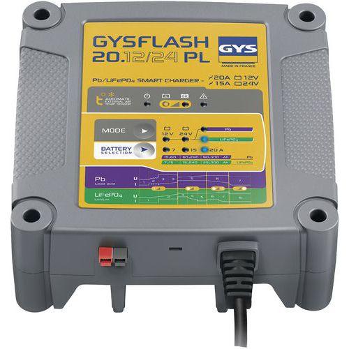 Carregador de bateria – Gysflash 20.12/24 PL – Gys