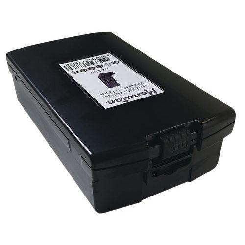 Caixa de 25 brocas cilíndricas HSS laminadas – Manutan
