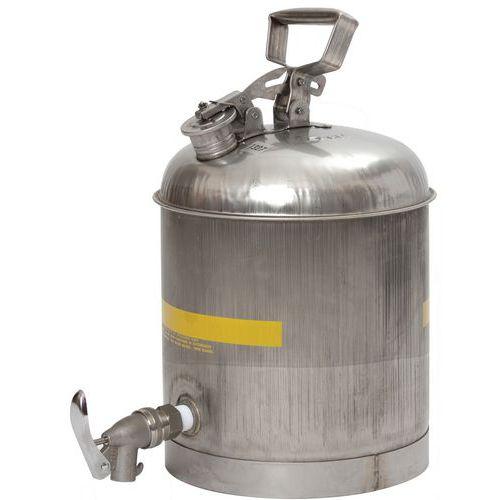 Recipiente em Aço Inoxidável e Torneira ECO com Junta Neoprene 137CN