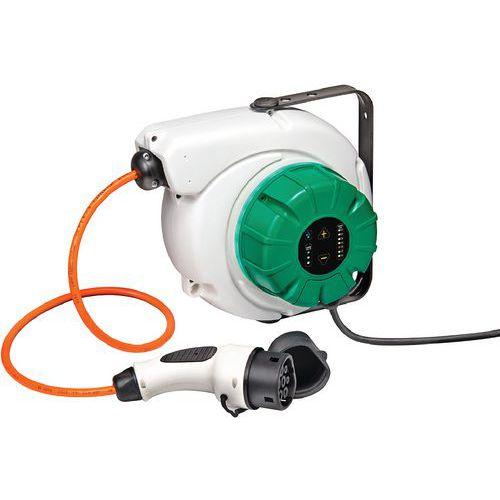 Enrolador de carregador para veículo elétrico – WALL BOX integrado – Cable Equipements