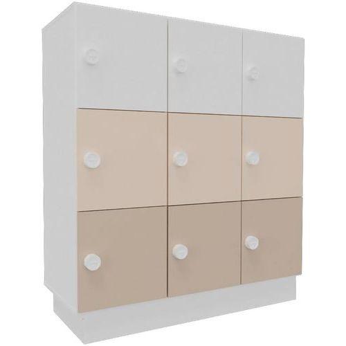 Bloco de compartimentos de arrumação com 9 compartimentos