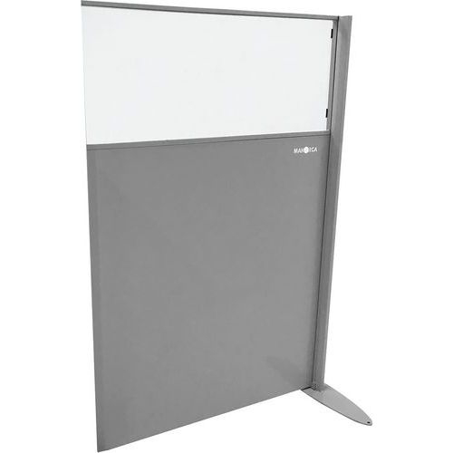 Divisória em semichapa e plexiglas – Módulo adicional