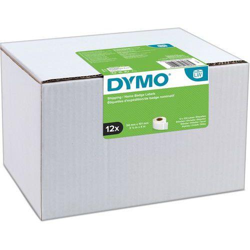 Etiquetas adesivas para expedição/crachás LabelWriter – Papel branco – Dymo
