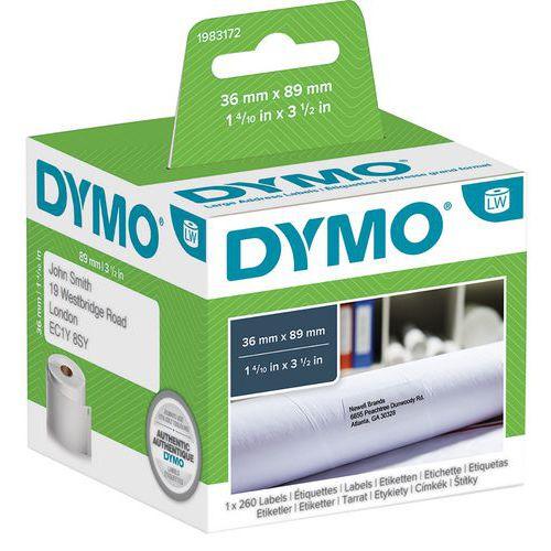 Etiquetas adesivas para identificação de moradas LabelWriter – Papel branco – Dymo