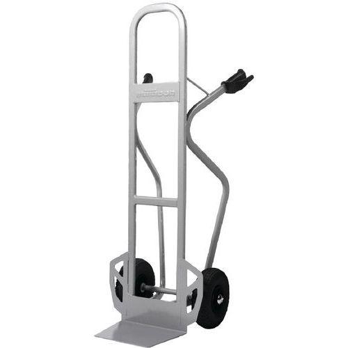 Porta-cargas em aço - Rodas pneumáticas - Aba fixa - Capacidade de 350 kg