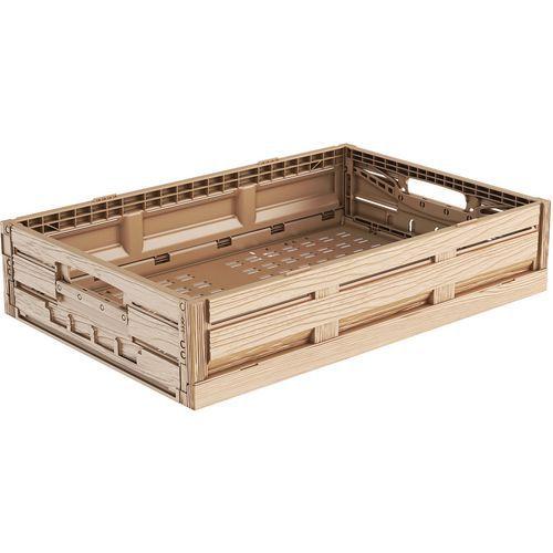 Caixa dobrável em imitação de madeira – 23 e 39L