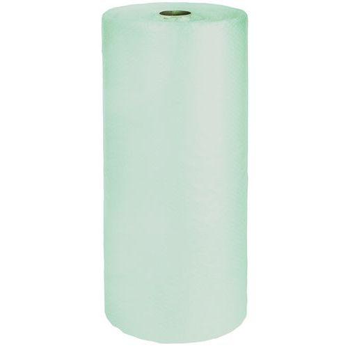 Plástico de bolhas verde translúcido reciclado – Ø 10mm – 35 µ
