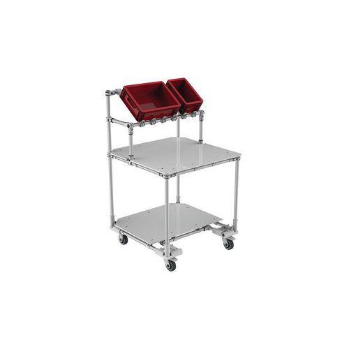 Posto de trabalho móvel com aprovisionamento frontal e 2 prateleiras – Trilogiq