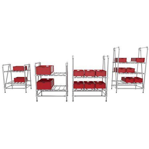 Mini-rack de armazenamento tubular – Trilogiq