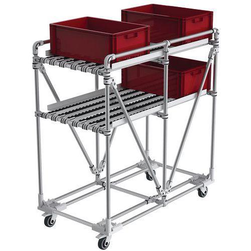 Transportador móvel compacto em alumínio, 150kg – Trilogiq