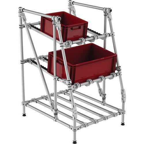 Mini-rack de recolha com roletes – frontal e sem arestas – Trilogiq