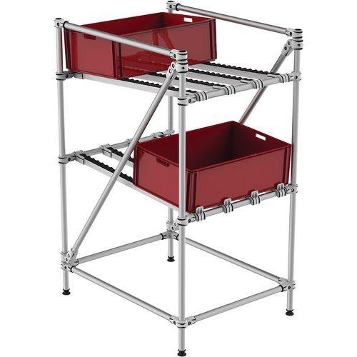 Mini-rack de recolha com roletes – Trilogiq