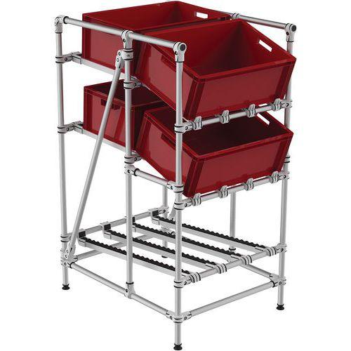 Mini-rack de recolha com roletes – frontal e com inclinação – Trilogiq