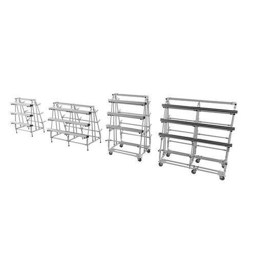 Mini Rack Cantilever fixo – base triangular – carga 350 kg por nível – Trilogiq