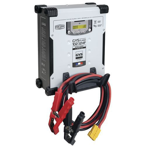 Carregador de bateria GYSFLASH 102.12 HF (cabos de 5,0m)