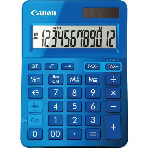 Calculadora de 12 dígitos LS-123K-MBL Canon – azul