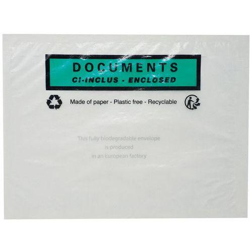 Pochette porte-documents - Cristal - Documents ci-inclus
