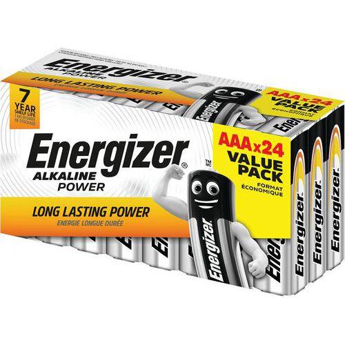 Pilha Alkaline Power AAA/LR03 Value Box – conjunto de 24 – Energizer