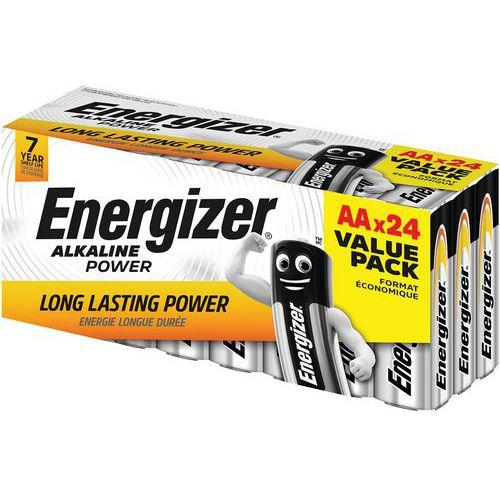 Pilha Alkaline Power AA value box – conjunto de 24 – Energizer