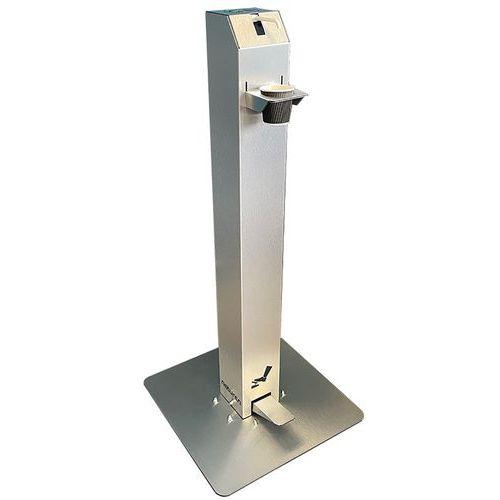 Distribuidor de gel com pedal e frasco recarregável