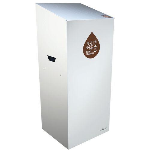 Caixote de lixo de separação Uno – compostável – abertura fechada – 110L