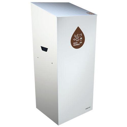 Caixote de lixo de separação Uno – compostável – abertura fechada – 65L