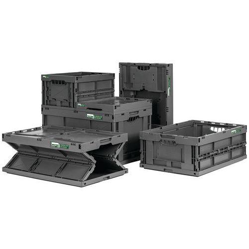 Caixa dobrável reciclada – 400 a 600mm de comprimento – 20 a 61L