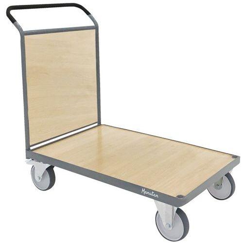 Carro com espaldar em madeira – Capacidade de 400 a 500kg – Manutan